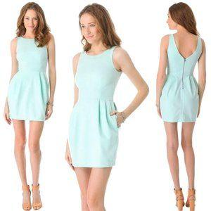 Club Monaco Mint Green Fit & Flare Dress